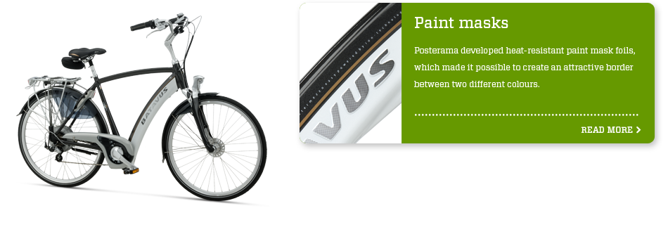 Bicycle industry - paintmasks