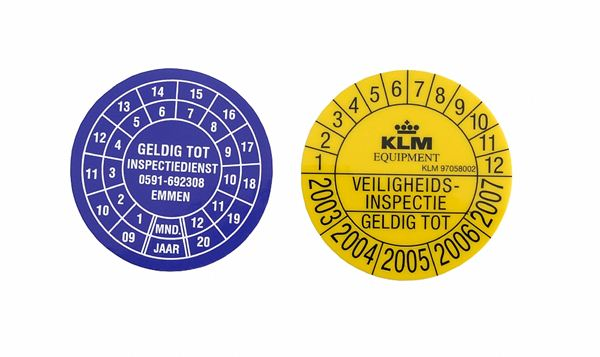 Inspection stickers